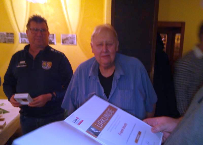 Ehrenplakette für Frank Muth